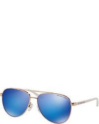 Michael Kors Michl Kors Aviator Metal Mirrored Sunglasses