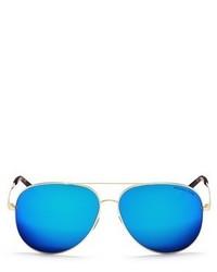Michael Kors Michl Kors Kendall I Metal Aviator Mirror Sunglasses