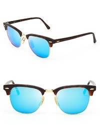 Ray-Ban Mirrored Clubmaster Sunglasses 51mm