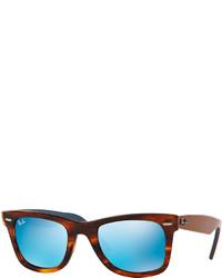 Ray-Ban Original Wayfarer Gray Mirror Sunglasses Havana