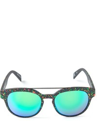 Paint effect mirrored sunglasses medium 224661