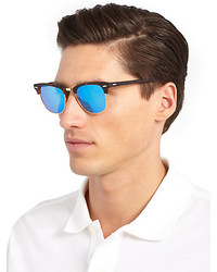 ray ban mirrored clubmaster sunglasses  ray ban clubmaster mirrored lens sunglasses