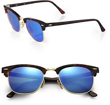 ray ban clubmaster sunglasses mirror  ray ban clubmaster mirrored lens sunglasses
