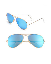Ray ban original aviator 58mm sunglasses gold blue one size medium 198178