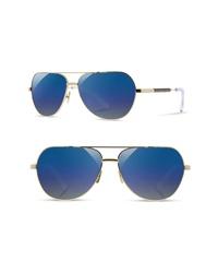 Shwood Redmond 56mm Polarized Aviator Sunglasses