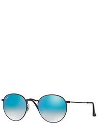 Ray-Ban Round Ombre Mirrored Sunglasses Blackblue