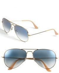 Ray-Ban Standard Original 58mm Aviator Sunglasses Gold Blue Gradient