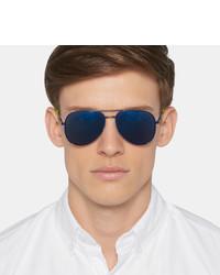 Aviator Laurent Mirrored Saint Style Metal Surf Sunglasses375 nN8wm0