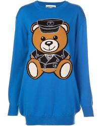 Moschino Biker Bear Sweater Dress
