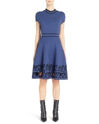 Fendi Cutout Heart Reversible Fit Flare Dress