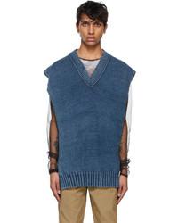 Maison Margiela Indigo Faded Cotton Vest