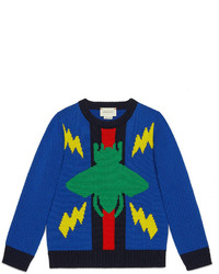 Gucci Childrens Beetle Web Sweater