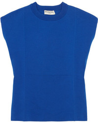 Balenciaga Cotton Blend Sweater Blue