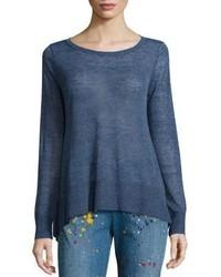 Alice + Olivia Moya Handkerchief Hem Sweater