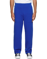 AMI Alexandre Mattiussi Blue Ami De Cur Lounge Pants
