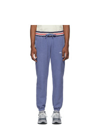 Aimé Leon Dore Blue Reverse Fleece Ribbed Lounge Pants