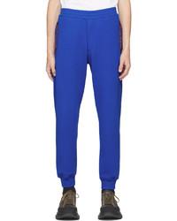 Alexander McQueen Blue Selvedge Logo Tape Lounge Pants