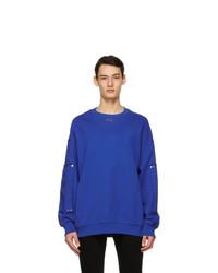 Givenchy Blue Oversized Stud Sweatshirt