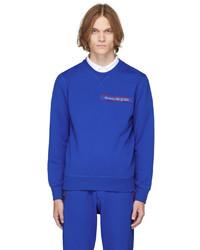 Alexander McQueen Blue Selvedge Logo Tape Sweatshirt