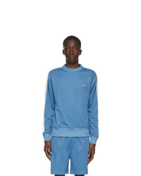 AMI Alexandre Mattiussi Blue Technique Sweatshirt