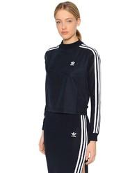adidas Cropped Sweatshirt W Knit Sleeves