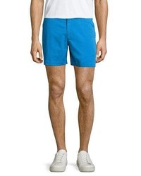 Orlebar Brown Bulldog Solid Swim Trunks Blue