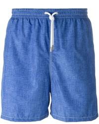 Kiton Denim Effect Swim Shorts