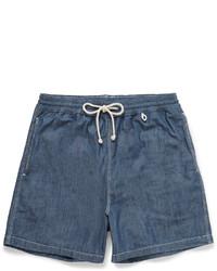 Loro Piana Mid Length Cotton Chambray Swim Shorts