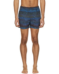Missoni Navy Mare Zig Zag Swim Trunks