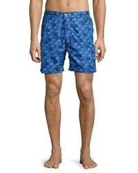 Peter Millar The Great Waves Swim Trunks Royal Blue