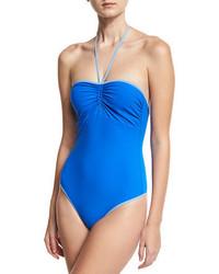 Diane von Furstenberg Bandeau Halter One Piece Swimsuit