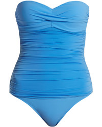 Heidi Klein Body Bandeau Control Ruched Swimsuit