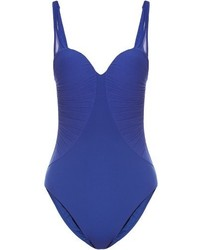 La Perla Cool Draping Ruched Tulle Padded Swimsuit