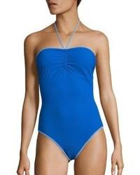Diane von Furstenberg Halter Tie One Piece Swimsuit