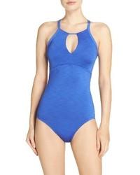 Nike Iconic Heather High Neck One Piece Swimsuit