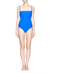 Alexander Wang T By Two Tone Bonded Tricot One Piece Swimsuit