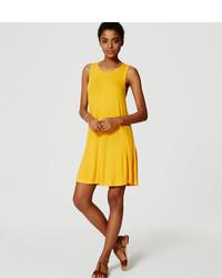 loft yellow dress. loft sleeveless swing dress loft yellow