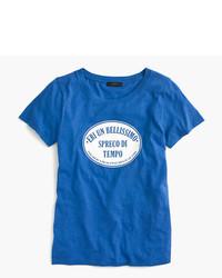 J.Crew Italian Travel Logo T Shirt