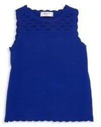 Milly Minis Toddlers Little Girls Scalloped Cutout Knit Tank Top