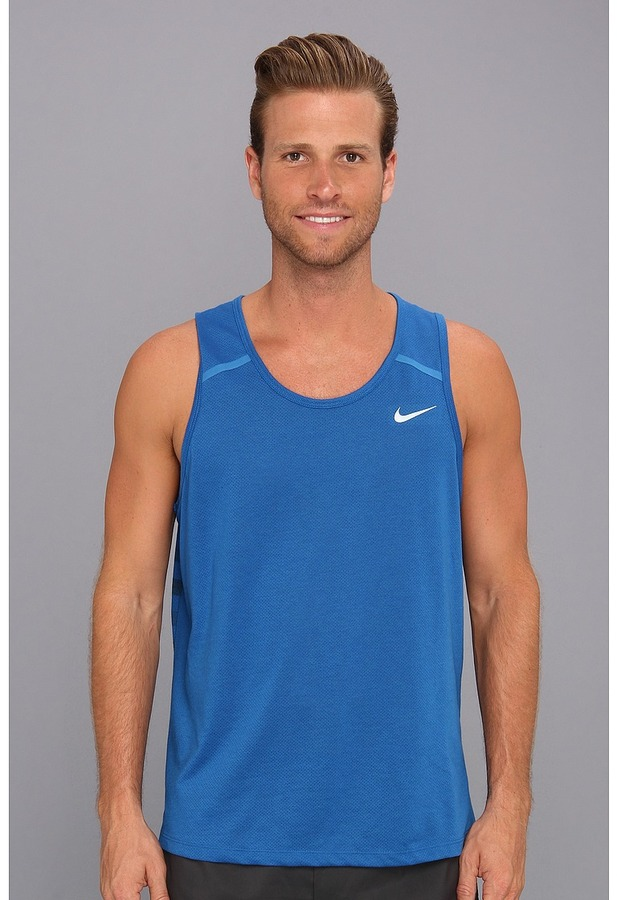 Men's Fashion › T-shirts › Tanks › Blue Tanks Nike Dri Fit Touch Tailwind  Tank ...