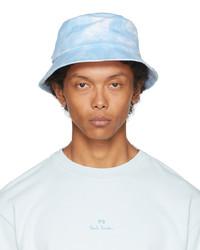 Paul Smith White Blue Dip Dye Bucket Hat