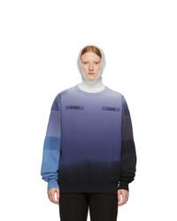 Ambush Blue And Black Patchwork Sweatshirt