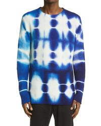 The Elder Statesman Triptych Tie Dye Rib Cashmere Sweater