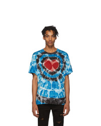 Blue Tie-Dye Crew-neck T-shirt
