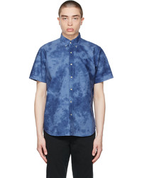 Polo Ralph Lauren Blue Tie Dye Classic Fit Oxford Short Sleeve Shirt