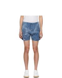 Schnaydermans Blue Tie Dye Shorts