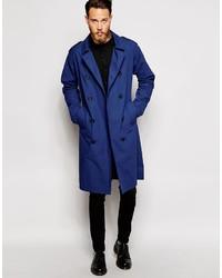 Men's Blue Trenchcoats from Asos | Men's Fashion