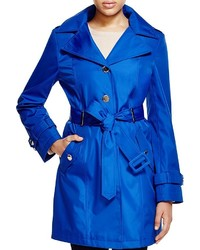 Hooded belted trench coat medium 420478
