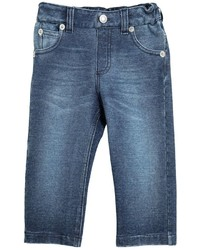 Dolce & Gabbana Denim Effect Cotton Fleece Pants