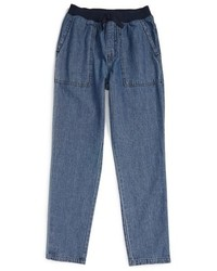 Tea Collection Girls Indigo Dyed Canvas Pants